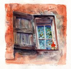 Provence Window Orange
